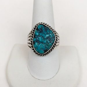 Men's  Sterling Silver and Turquoise Ring